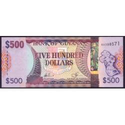 Guyana 500 Dólares PK 37 (2.011) (Firma 14) S/C