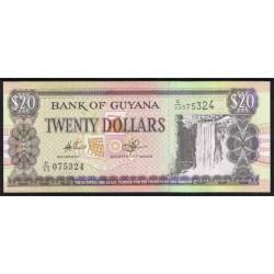 Guyana 20 Dólares PK Nuevo (2.010) S/C