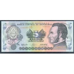 Honduras 5 Lempiras PK 85d (26-8-2.004) S/C