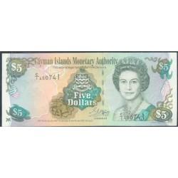 Islas Caimán 5 Dólares PK 27 (2.001) S/C