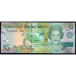 Islas Caimán 5 Dólares PK 39 (2.010) S/C