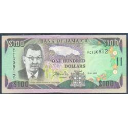 Jamaica 100 Dólares PK 80 (15-1-2.001) S/C