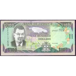Jamaica 100 Dólares PK 80 (15-1-2.002) S/C