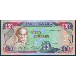 Jamaica 50 Dólares PK 79d (15-1-2.003) S/C