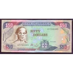 Jamaica 50 Dólares PK 83b (15-1-2.004) S/C