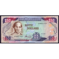 Jamaica 50 Dólares PK 83f (15-1-2.009) S/C