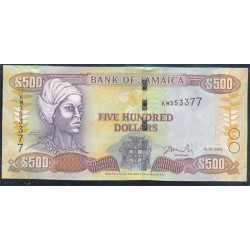 Jamaica 500 Dólares PK 85 (15-1-2.005) S/C