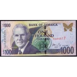Jamaica 1.000 Dólares PK 86g (15-1-2.009) S/C