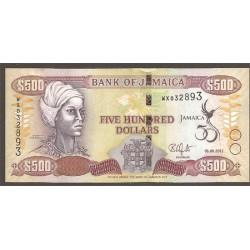 Jamaica 500 Dólares PK 91 (6-8-2.012) S/C
