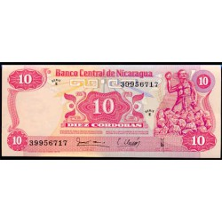 Nicaragua 10 Córdobas PK 134 (1.979) S/C
