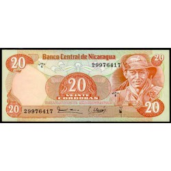 Nicaragua 20 Córdobas PK 135 (1.979) S/C
