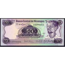 Nicaragua 50.000 Córdobas en 50 Córdobas PK 148 (1.987) S/C-