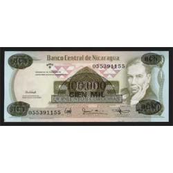 Nicaragua 100.000 Córdobas en 500 Córdobas PK 149 (1987) S/C