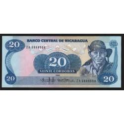 Nicaragua 20 Córdobas PK 152 (1.985) S/C