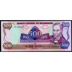 Nicaragua 500 Córdobas PK 155 (1.988) S/C