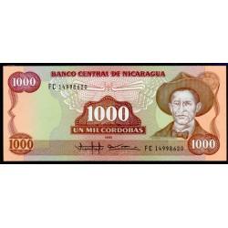 Nicaragua 1.000 Córdobas PK 156 (1.988) S/C