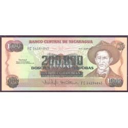 Nicaragua 200.000 Córdobas en 1.000 Córdobas PK 162 (1.990) S/C