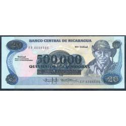 Nicaragua 500.000 Córdobas en 20 Córdobas PK 163 (1.990) S/C