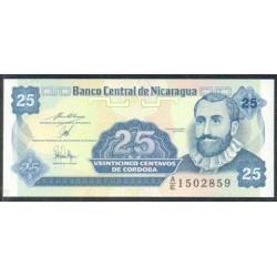 Nicaragua 25 Cent. de Córdoba PK 170 (1.991) S/C