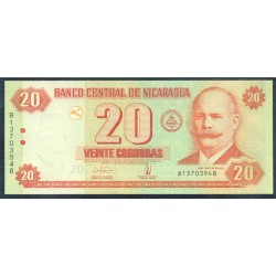 Nicaragua 20 Córdobas PK 197 (2.006) S/C