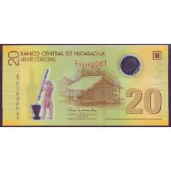 Nicaragua 20 Córdobas Pk 202a (2.009) S/C