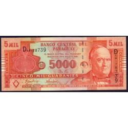 Paraguay 5.000 Guaraníes PK 223 (2.005) S/C