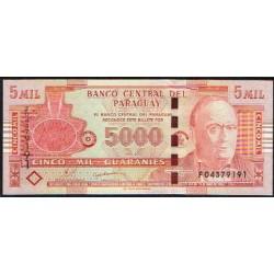 Paraguay 5.000 Guaraníes PK 223c (2.010) S/C