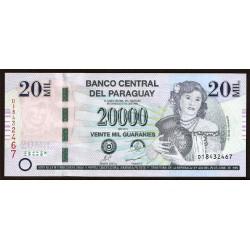 Paraguay 20.000 Guaraníes PK 230c (2.011) S/C