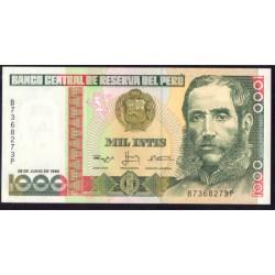 Perú 1.000 Intis PK 136b (28-6-1.988) S/C