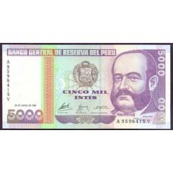 Perú 5.000 Intis PK 137 (28-6-1.988) S/C