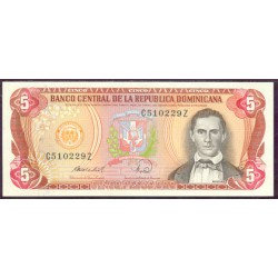 Rep. Dominicana 5 Pesos Oro PK 118c (1.988) S/C