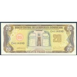 Rep. Dominicana 20 Pesos Oro PK 133 (1.990 ) S/C