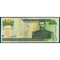 Rep. Dominicana 10 Pesos Oro PK 165 (2.001) S/C