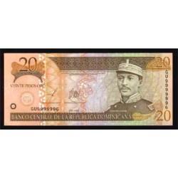 Rep. Dominicana 20 Pesos Oro PK 169 (2.003) S/C