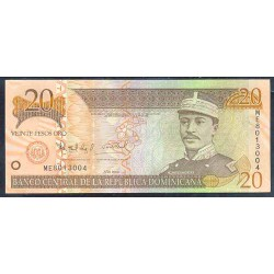 Rep. Dominicana 20 Pesos Oro PK 169 (2.004) S/C