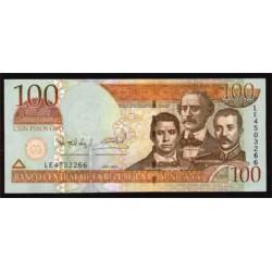 Rep. Dominicana 100 Pesos Oro PK 171d (2.004) S/C