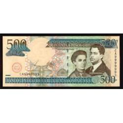 Rep. Dominicana 500 Pesos Oro PK 172b (2.003) S/C