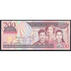 Rep. Dominicana 200 Pesos Oro PK 178 (2.007) S/C
