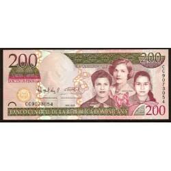 Rep. Dominicana 200 Pesos Oro PK Nuevo (2.009) S/C