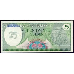 Surinam 25 Gulden PK 127b (1-11-1.985) S/C