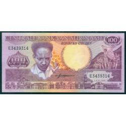 Surinam 100 Gulden PK 133a (1-7-1.986) S/C