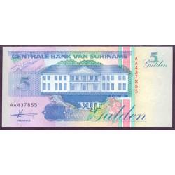 Surinam 5 Gulden PK 136a (9-7-1.991) S/C