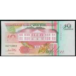 Surinam 10 Gulden PK 137b (1.996) S/C