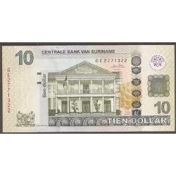 Surinam 10 Dólares PK 163 (1-9-2.010) S/C