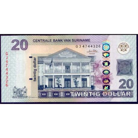 Surinam 20 Dólares PK 164 (1-9-2.010) S/C