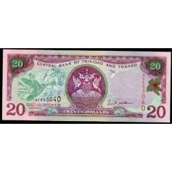 Trinidad y Tobago 20 Dólares PK 44 (2.002) S/C