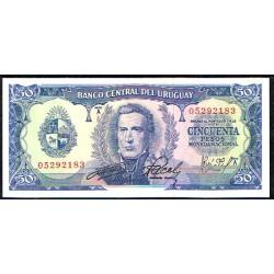Uruguay 50 Pesos PK 46 (1.967) S/C