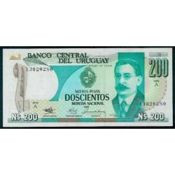 Uruguay 200 Nuevos Pesos PK 66 (1.986) S/C