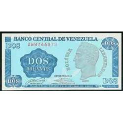 Venezuela 2 Bolívares PK 69 (5-10-1.989) S/C