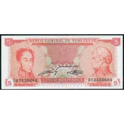 Venezuela 5 Bolívares PK 70 b (1989) S/C